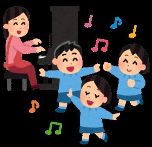 ピアノで踊る子供たち