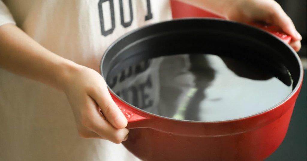 鍋でお湯を沸かす?