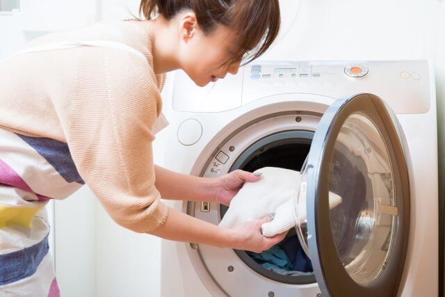 ドラム式洗濯機は出し入れがラク